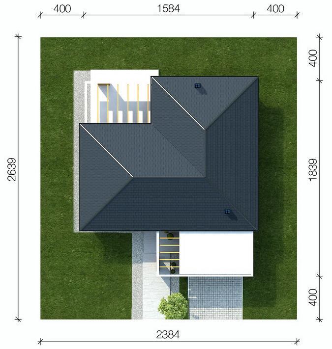 Casa in forma de L design modern