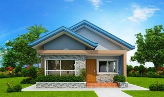 Casa cu fatada albastra