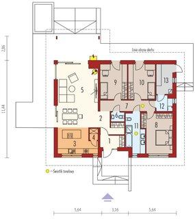 Casa doar parter cu 3 dormitoare si 2 bai
