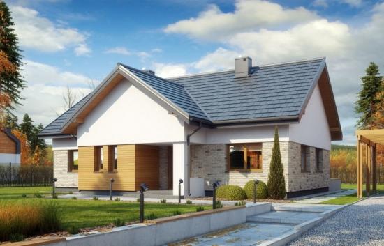 Proiect de casa cu 3 dormitoare si 1 baie - constructie incapatoare pe un singur nivel