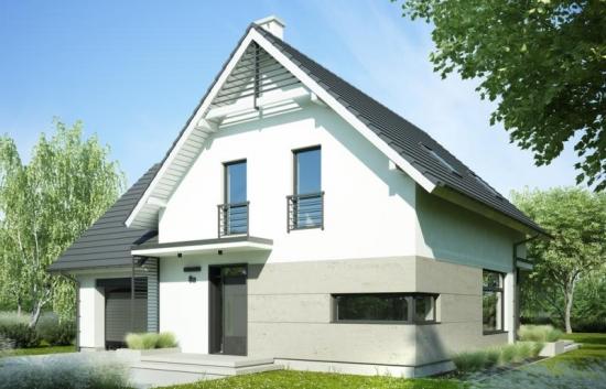 Proiect de casa cu trei dormitoare si garaj