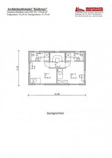 Plan etaj casa de 144 mp cu 2 dormitoare cu bai fiecare