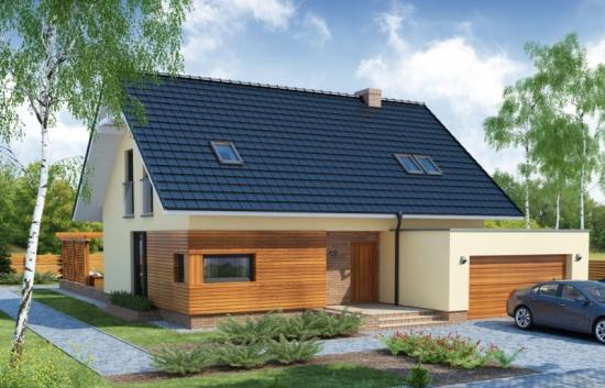 Proiect de casa cu 4 dormitoare si garaj dublu