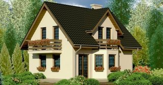 Casa cu lucarna la mansarda