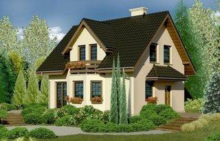 Casa frumoasa cu 3 balcoane