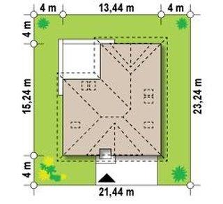 Dimensiuni teren casa cu 5 dormitoare si garaj dublu