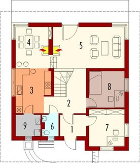 Casa cu 2 dormitoare la parter