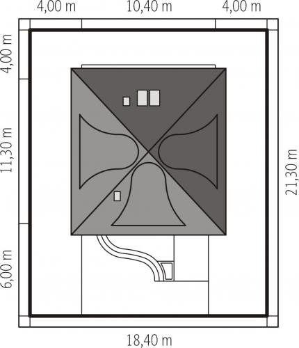 Casa cu amprenta de 10.40 pe 11.30 metri