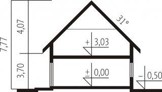 Dimensiuni elevatie casa cu 4 dormitoare