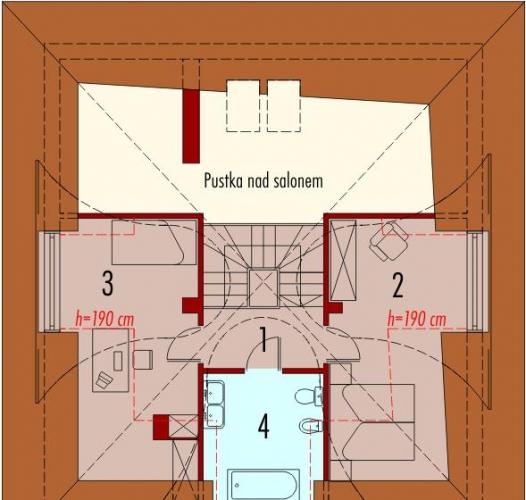 Mansarda cu 2 dormitoare si 1 baie