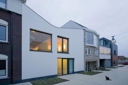 Casa cu acoperis in forma de V