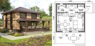 Casa cu veranda