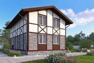 Casa mica din piatra si lemn
