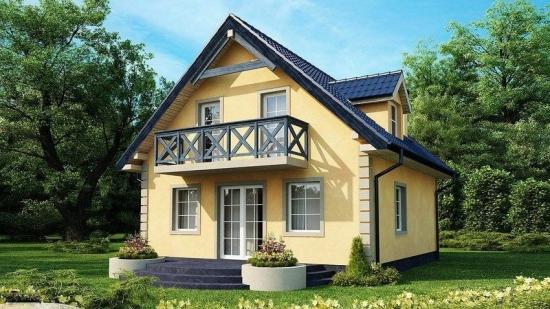 Case cu etaj si amprenta la sol de 6 x 6 metri - propuneri de proiecte si solutii optime de compartimentare