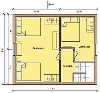 Schita casa 6 x 6 metri