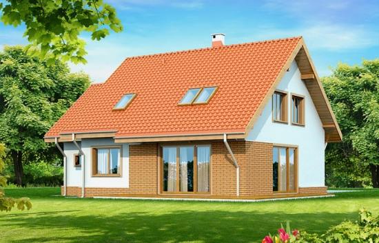 Proiect de casa cu mansarda si arhitectura clasica