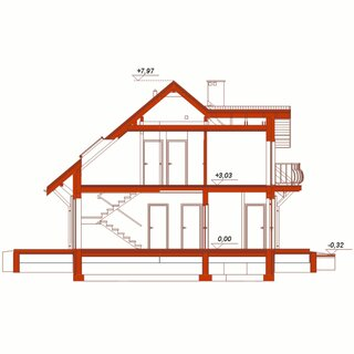 Plan vertical casa cu 5 camere