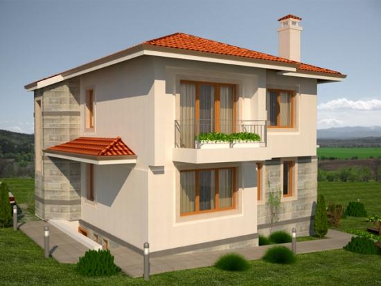Casa cu etaj si patru dormitoare