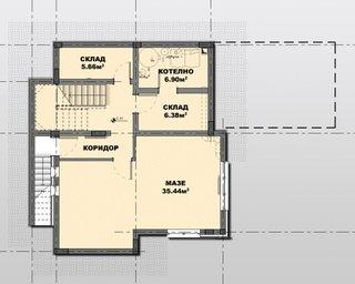 Plan demisol casa