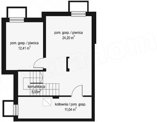 Plan subsol casa cu 4 dormitoare