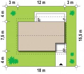 Dimensiuni casa mica cu 2 dormitoare