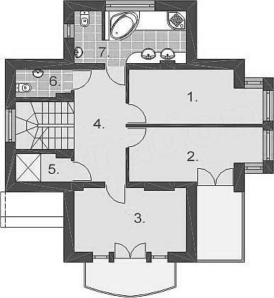 Casa cu 3 dormitoare pe etaj