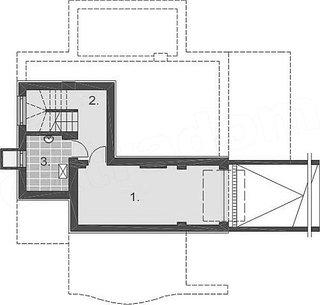Plan subsol cu garaj