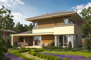 Casa cu etaj si terasa acoperita