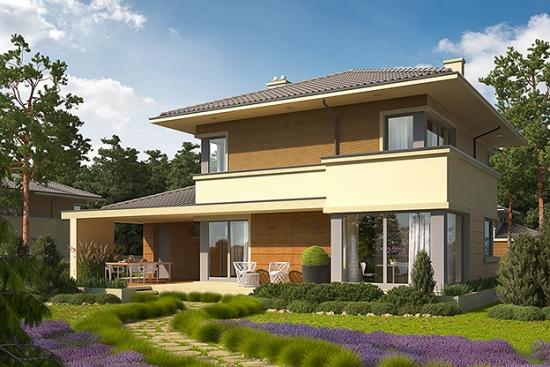 Casa cu etaj si terasa acoperita - proiect detaliat cu imagini