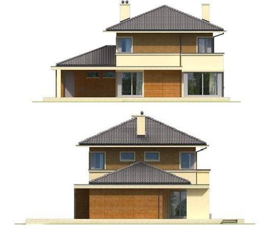 Elevatie terasa si spate casa