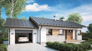 Casa parter cu garaj atasat