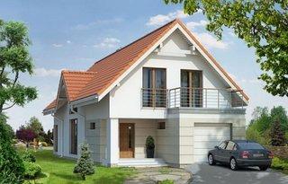 Casa ingusta cu mansarda