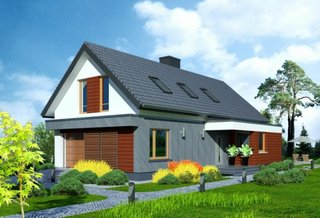 Casa drepunghiulara cu acoperis in doua ape