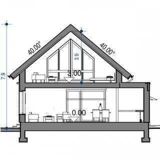 Plan vertical casa cu 5 camere si dependinte