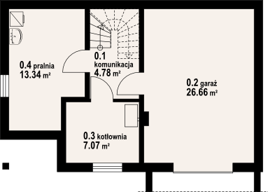 Plan subsol casa cu 3 dormitoare