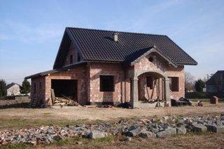 Casa construita dupa proiect etapa la gri