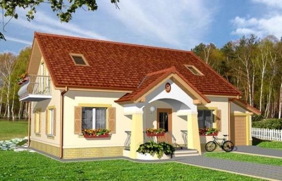 Casa cu garaj lateral - proiect complet si exemplu de casa construita