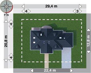 Dimensiuni parcela teren casa cu mansarda