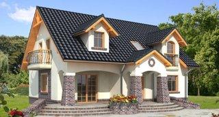 Casa cu mansarda si lucarne fara garaj