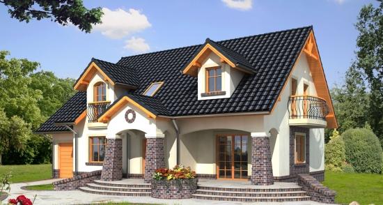 casa placata pe exterior cu klinker