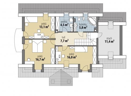 3 dormitoare la mansarda