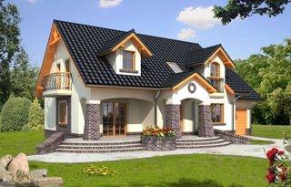 Proiect de casa cu mansarda si ferestre lucarna