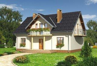 Casa frumoasa cu mansarda si balcon