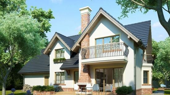 Un proiect de invidiat: casa cu mansarda cu suprafata utila de 200 mp