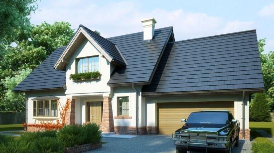 Casa cu mansarda si garaj proiect pentru o familie de 5 membri
