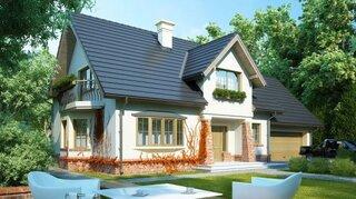Model de casa cu mansarda si 200 de metri utili