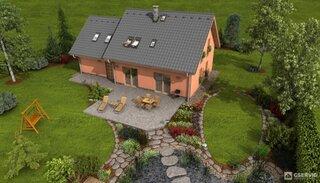 Asortare acoperis casa cu alei gradina