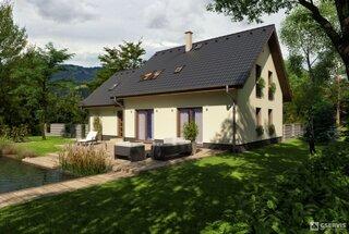 Vedere spate casa cu terasa