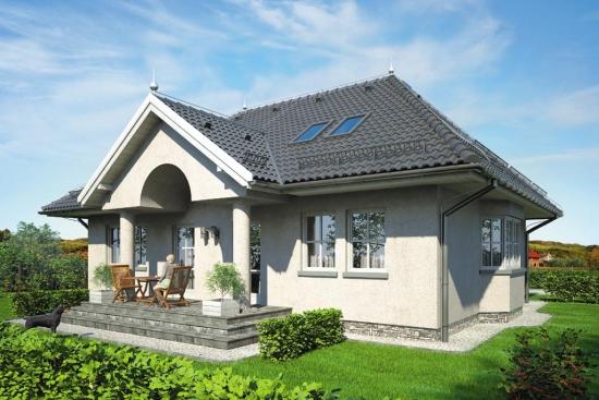 Proiect de casa cu mansarda in stilul unui conac boieresc