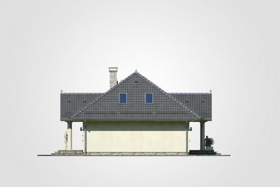 Elevatie laterala casa cu mansarda